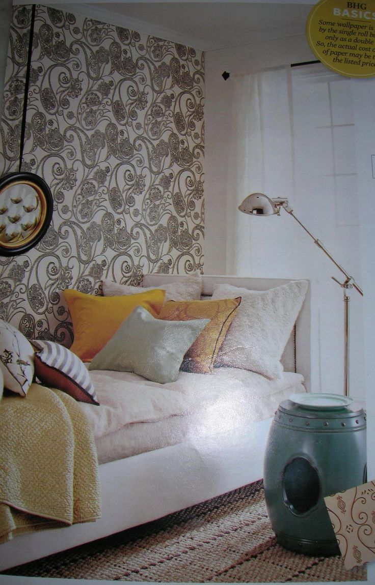 Feb 2008 Candice Olson Dotted Paisley Wallpaper Sherwin Williams 736x1150
