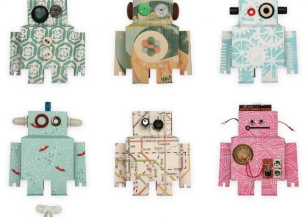 Robot wallpaper   Studio Ditte Wallpaper   Kids wallpaper 600x427