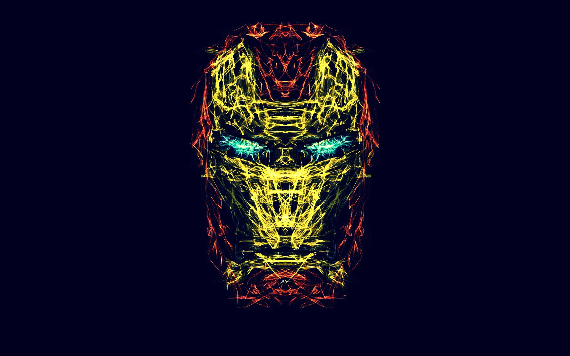 Fractal Iron Man Face The Jesters Corner 1920x1200