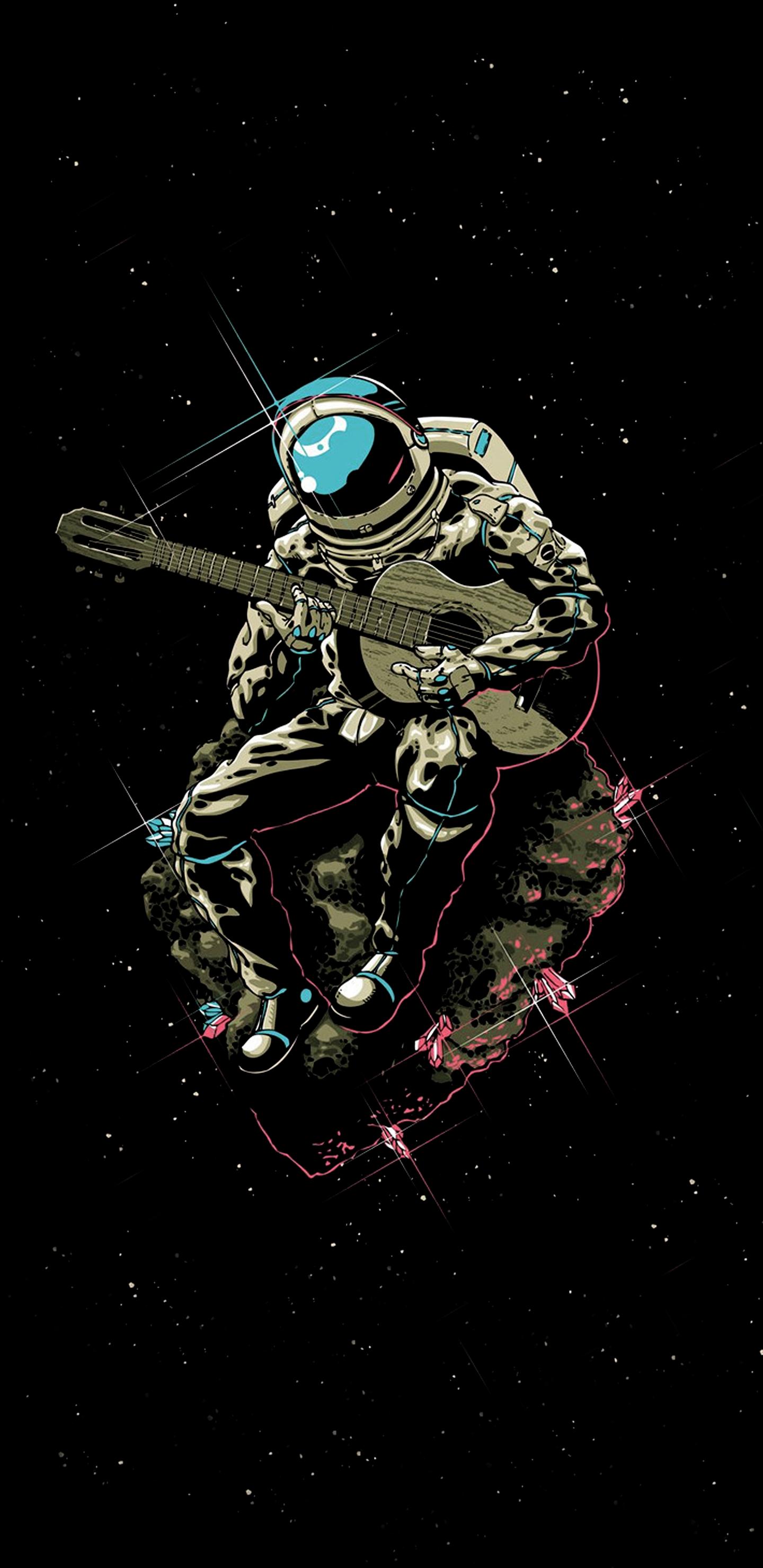 Astronaut playing the Guitar 1440x2960 S8 Wallpaper   Imgur 1440x2960