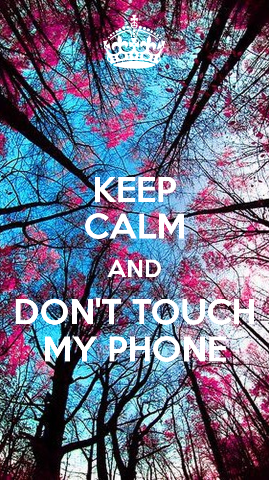 KEEP CALM AND DONT TOUCH MY PHONE   KEEP CALM AND CARRY ON Image 550x980