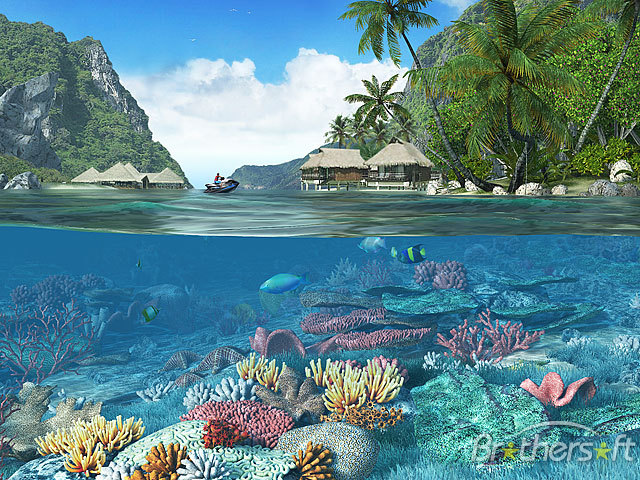 Download Caribbean Islands 3D Screensaver Caribbean Islands 3D 640x480