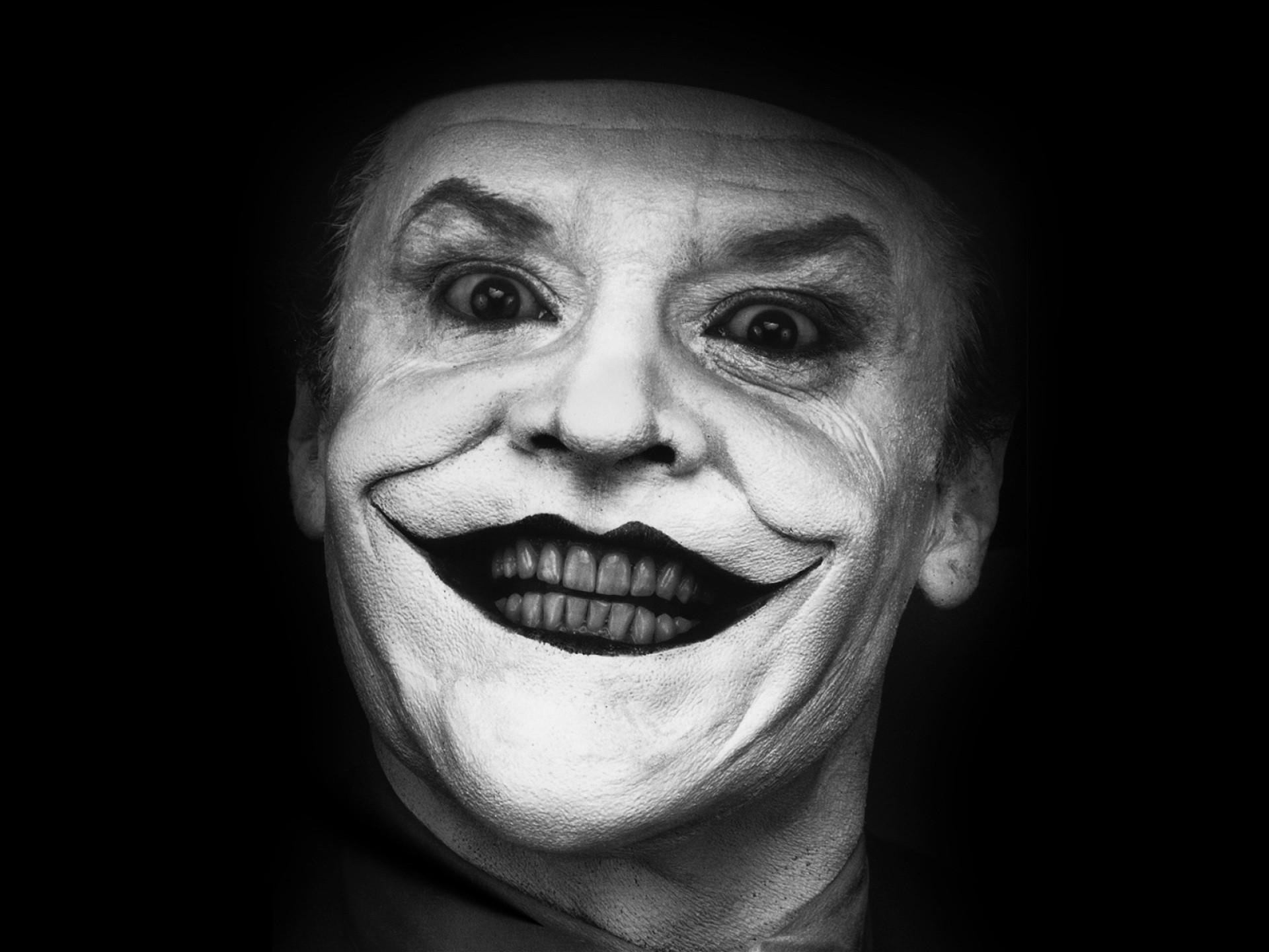 actor Jack Nicholson joker smile black background 1920x1440
