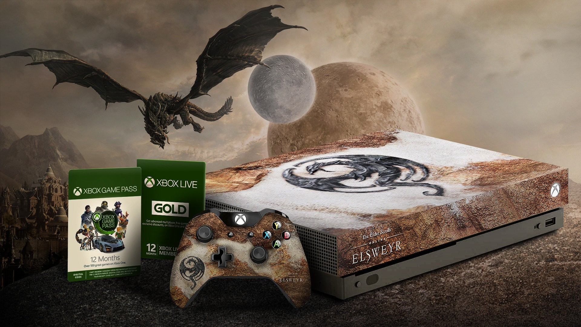 You can win an Elsweyr Xbox One X a year of Game Pass and Xbox 1920x1080