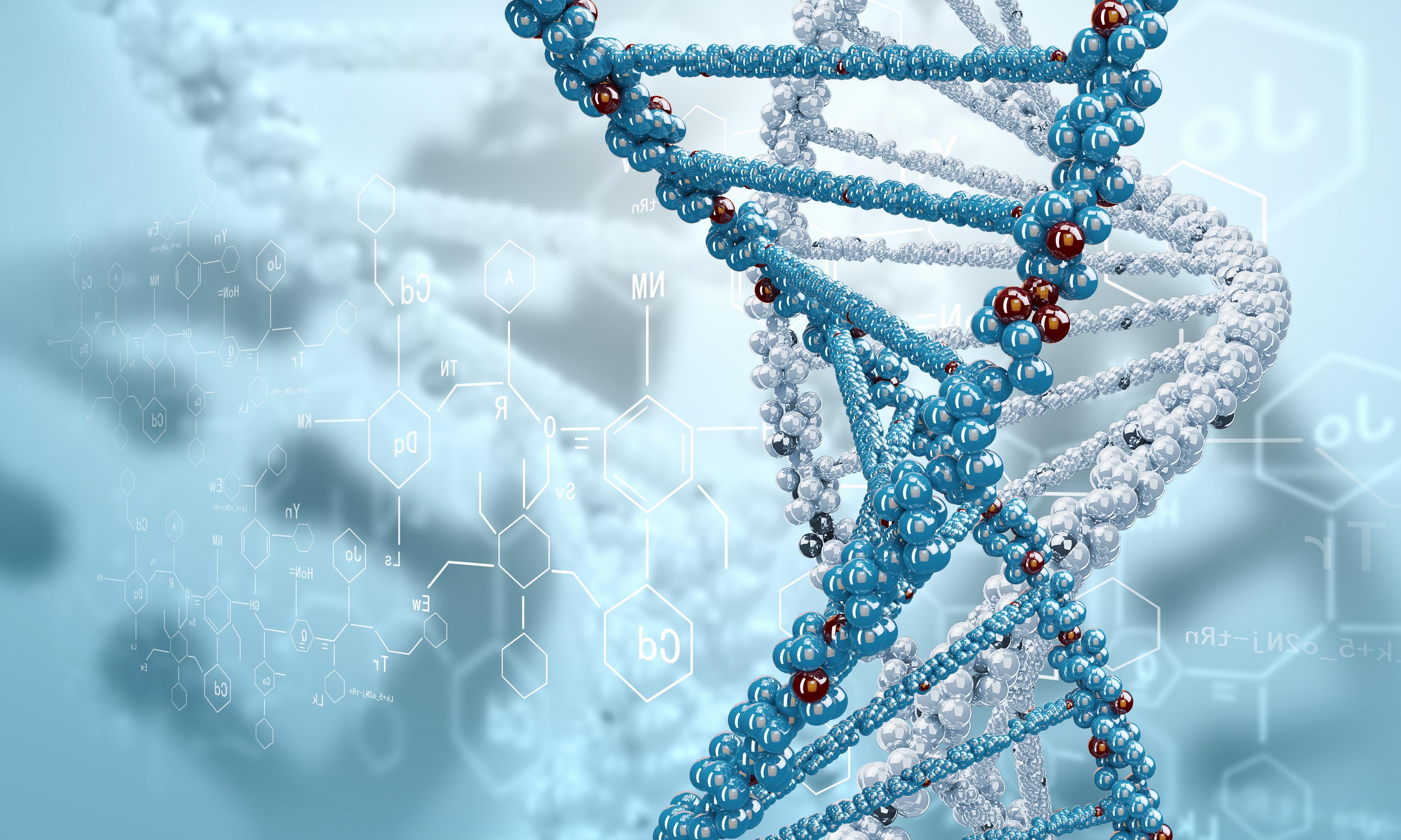3D DNA Wallpaper HD 4000x2400