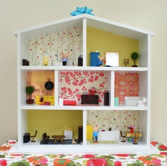 Wallpapering A Dollhouse