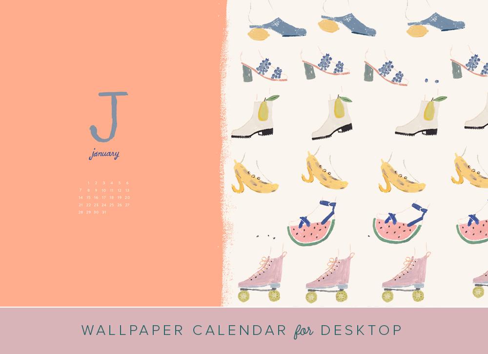 January 2018 desktop calendar   The House That Lars Built 1000x725