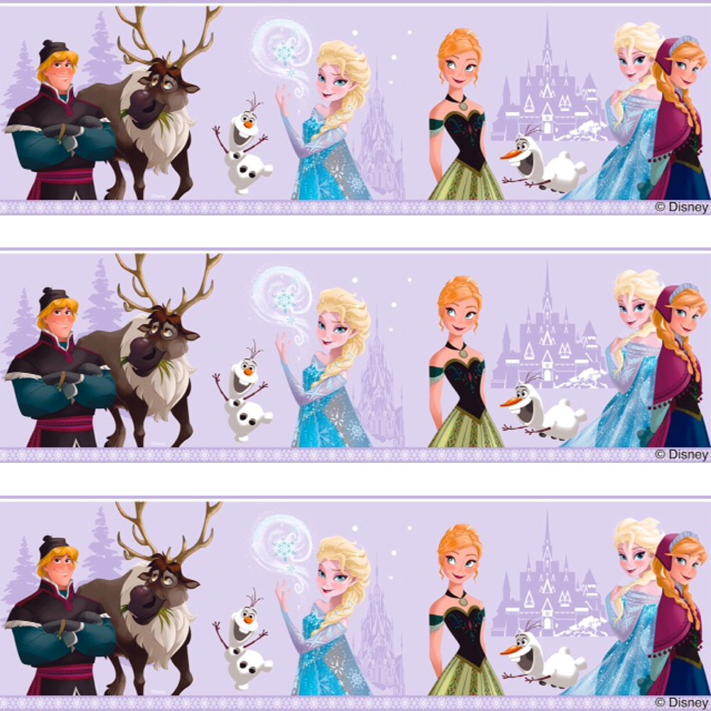 Disney Frozen Elsa Anna Olaf Childrens Movie Wallpaper Border Fr3503 3 1000x1000