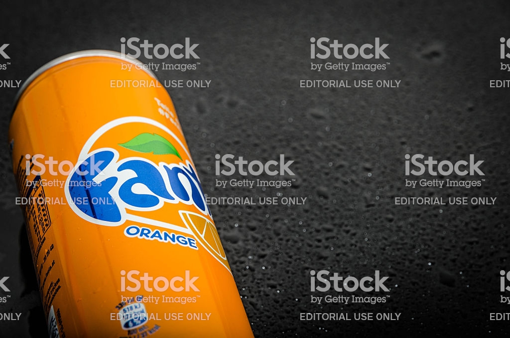 Orange Fanta Can Stock Photo   Download Image Now   iStock 1024x678