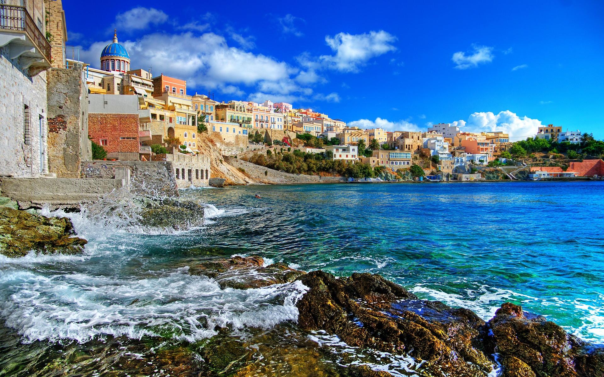 Syros Island Greece wallpaper 1920x1200