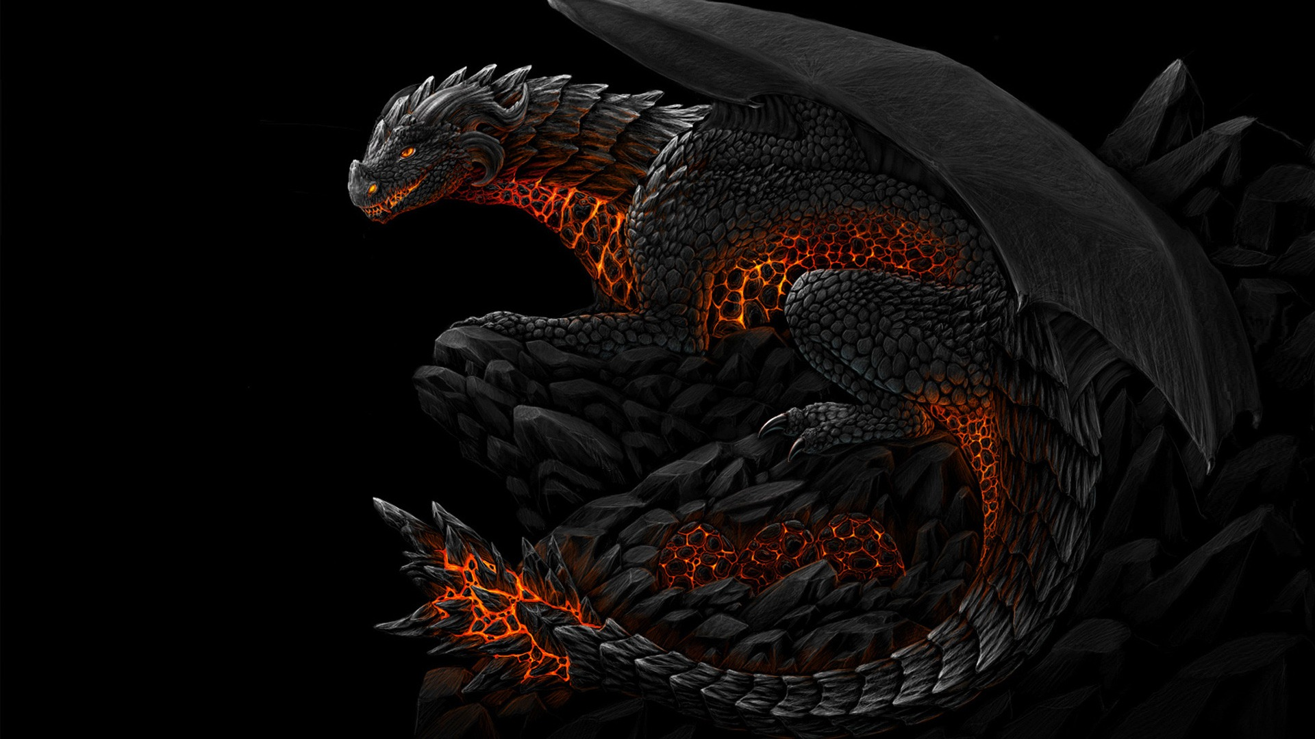 Dragon Background Wallpaper WIN10 THEMES 1920x1080