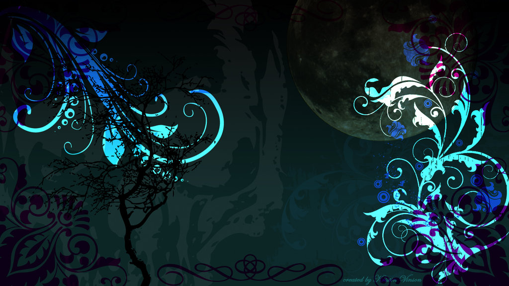 Teal Gothic Desktop Background 1366 x 768 px by CrystalKittyCat on 1024x576