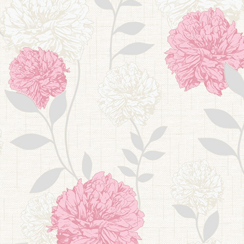 Maytime Soft Pink Textured Wallpaper by Crown Wallcoverings M0846 800x800
