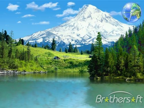 3D Mountain Lakes Screensaver 3D Mountain Lakes Screensaver 502x377