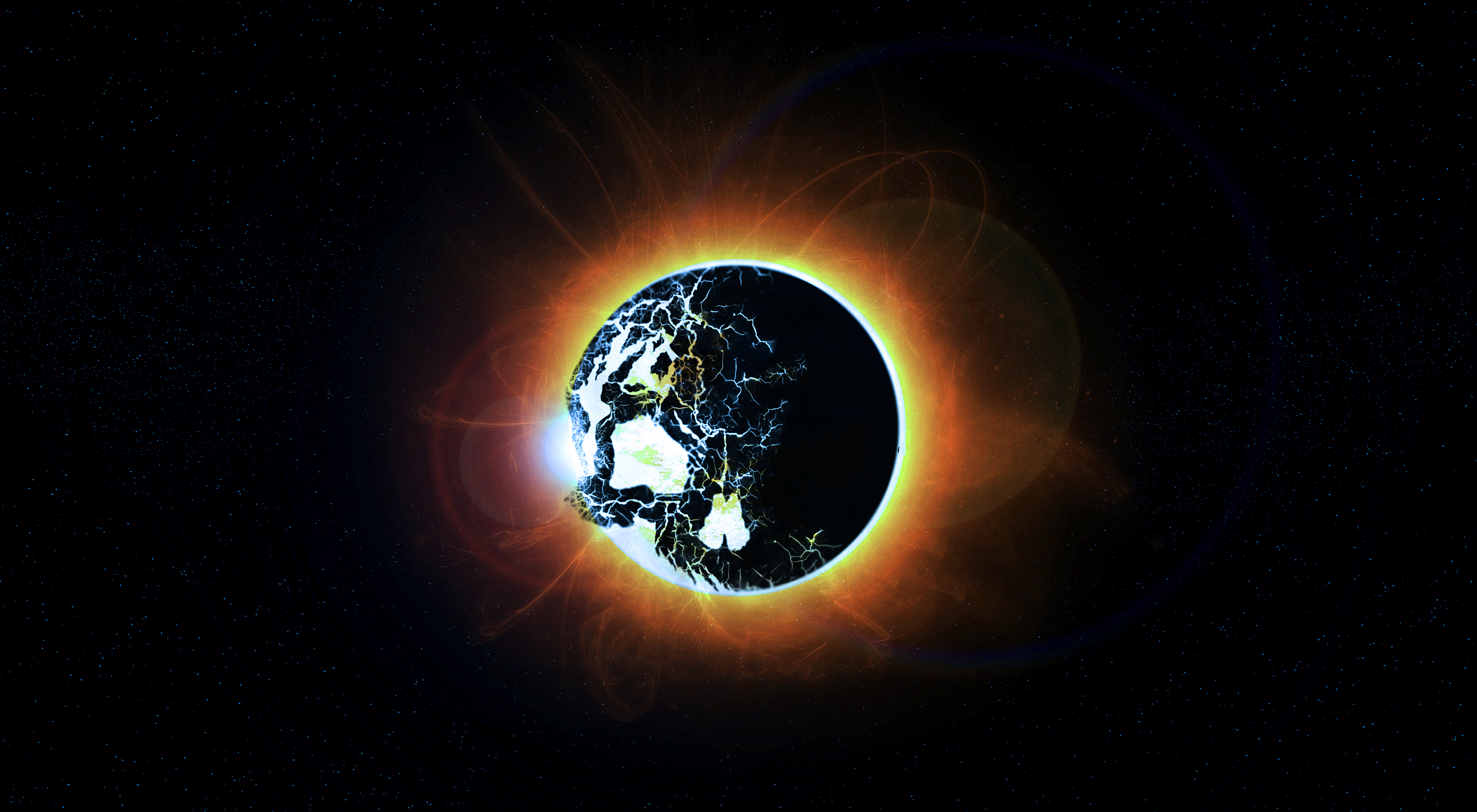 Wallpaper space sun stars eclipse skull wallpapers space 1680x1050
