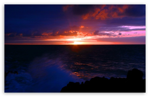 Beach Scene Sunset 12 HD wallpaper for Standard 43 54 Fullscreen 510x330