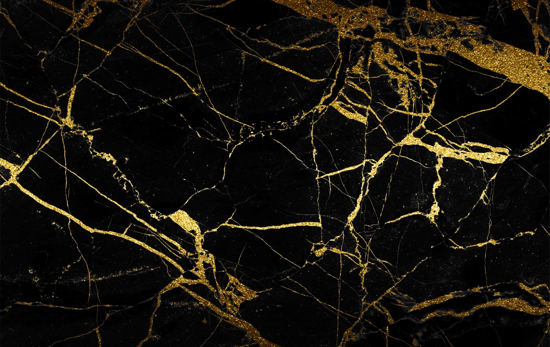Gold and black wallpaper wallpapersafari for Black and gold wallpaper for walls