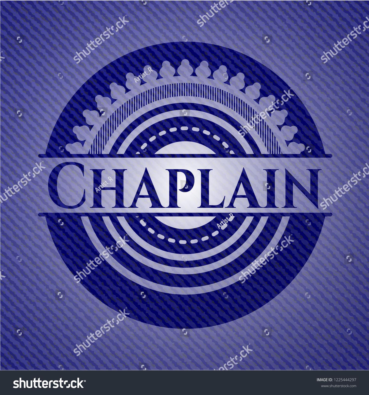 Chaplain Badge Denim Background Stock Vector Royalty 1225444297 1497x1600