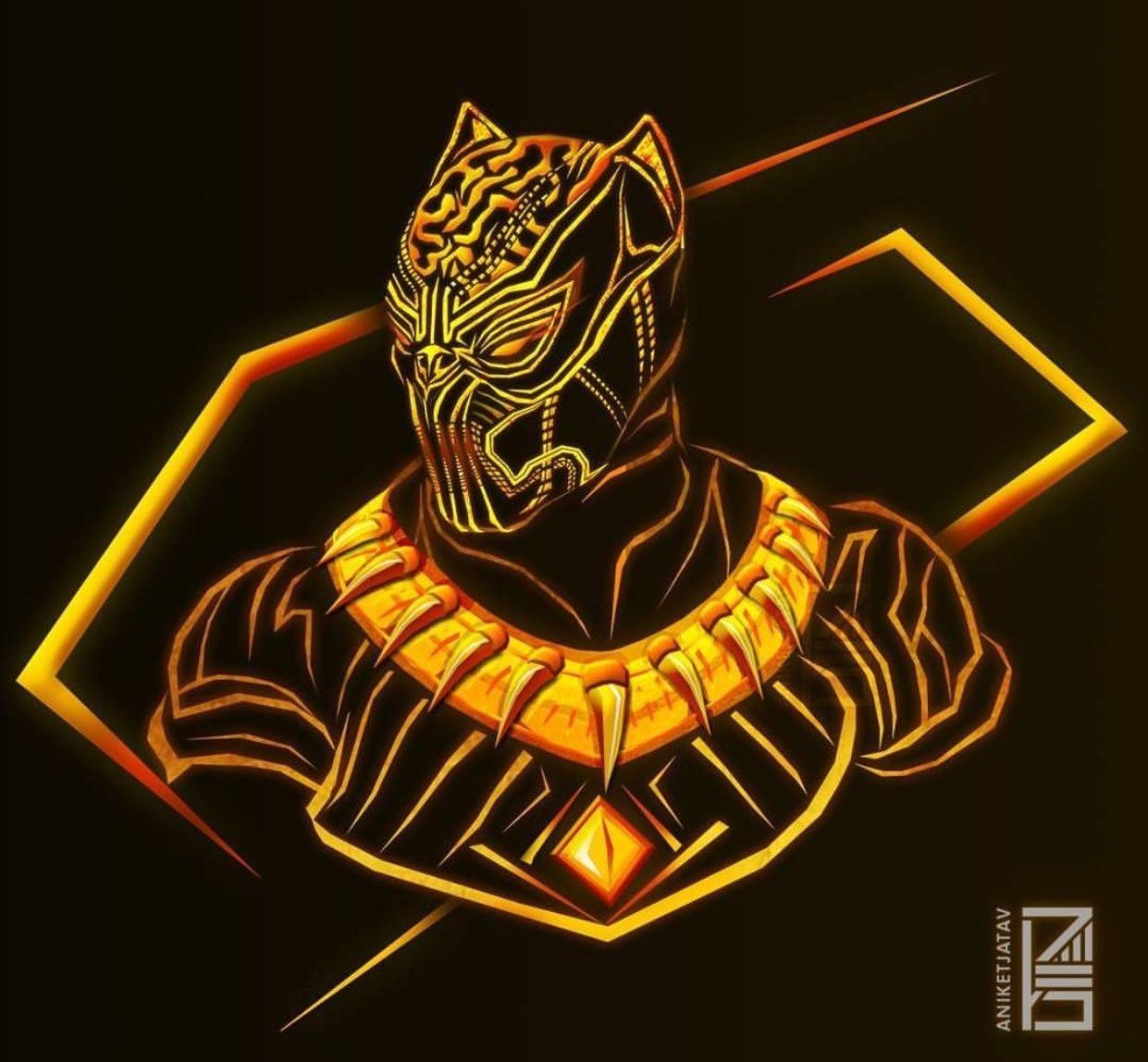 Black Panther Golden Jaguar MarvelComics Raven Pantera negra 1241x1148