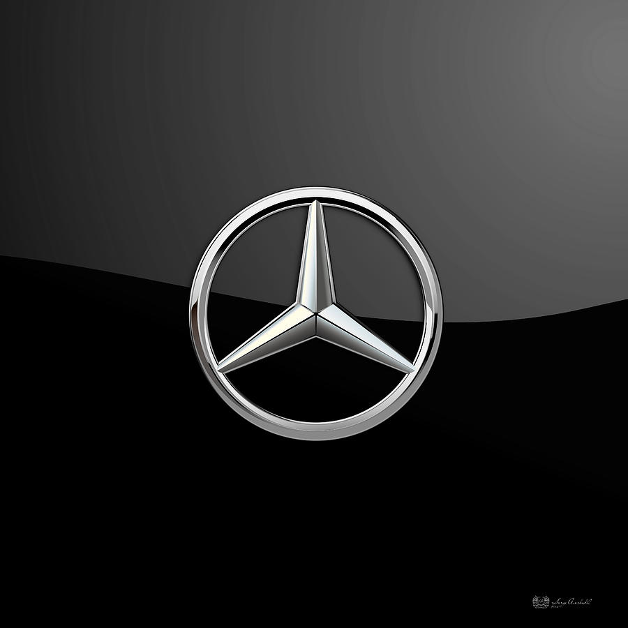 Mercedes Benz Logo Black Background wwwimgkidcom   The 900x900