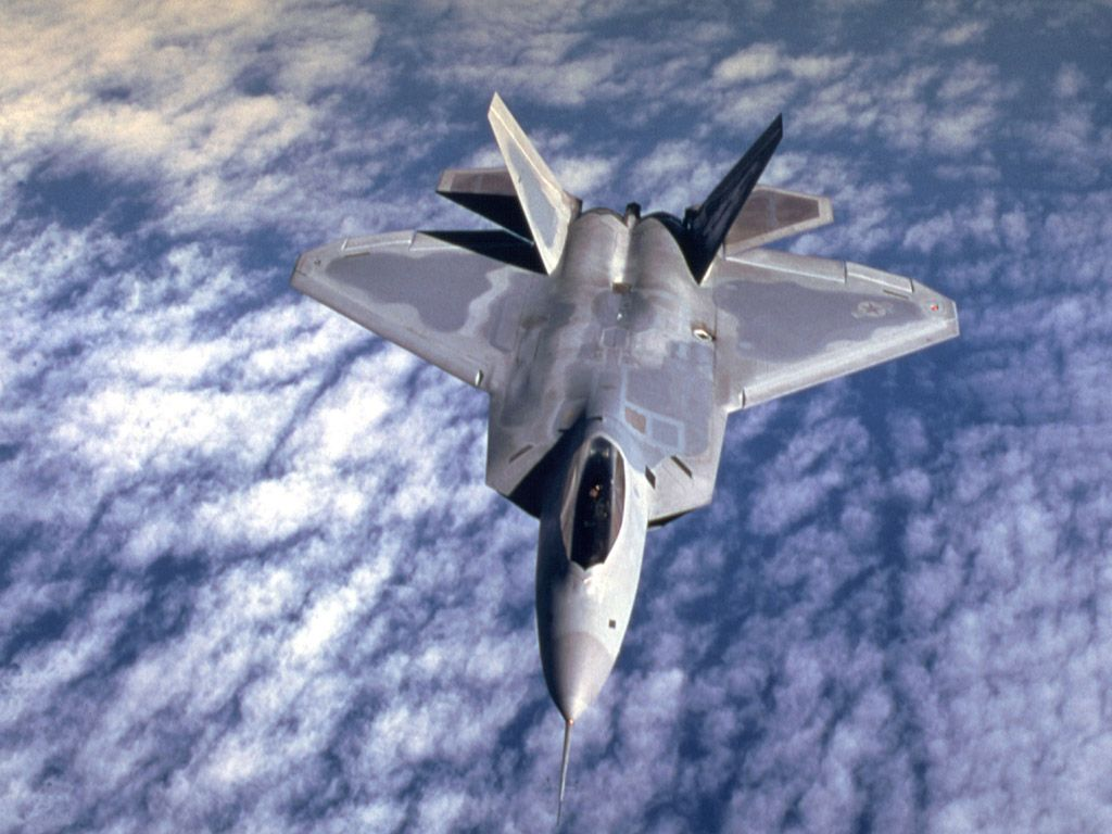 f22 raptor fly over wallpapers   DriverLayer Search Engine 1024x768