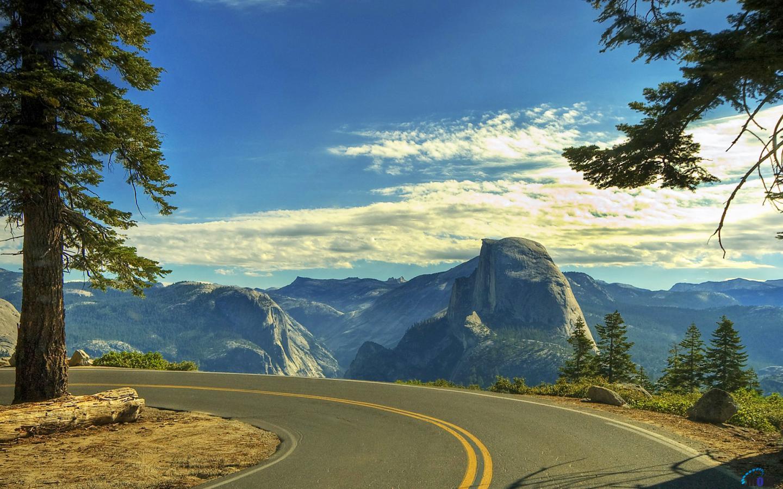 Desktop wallpapers Beautiful Road Yosemite National Park California 1440x900
