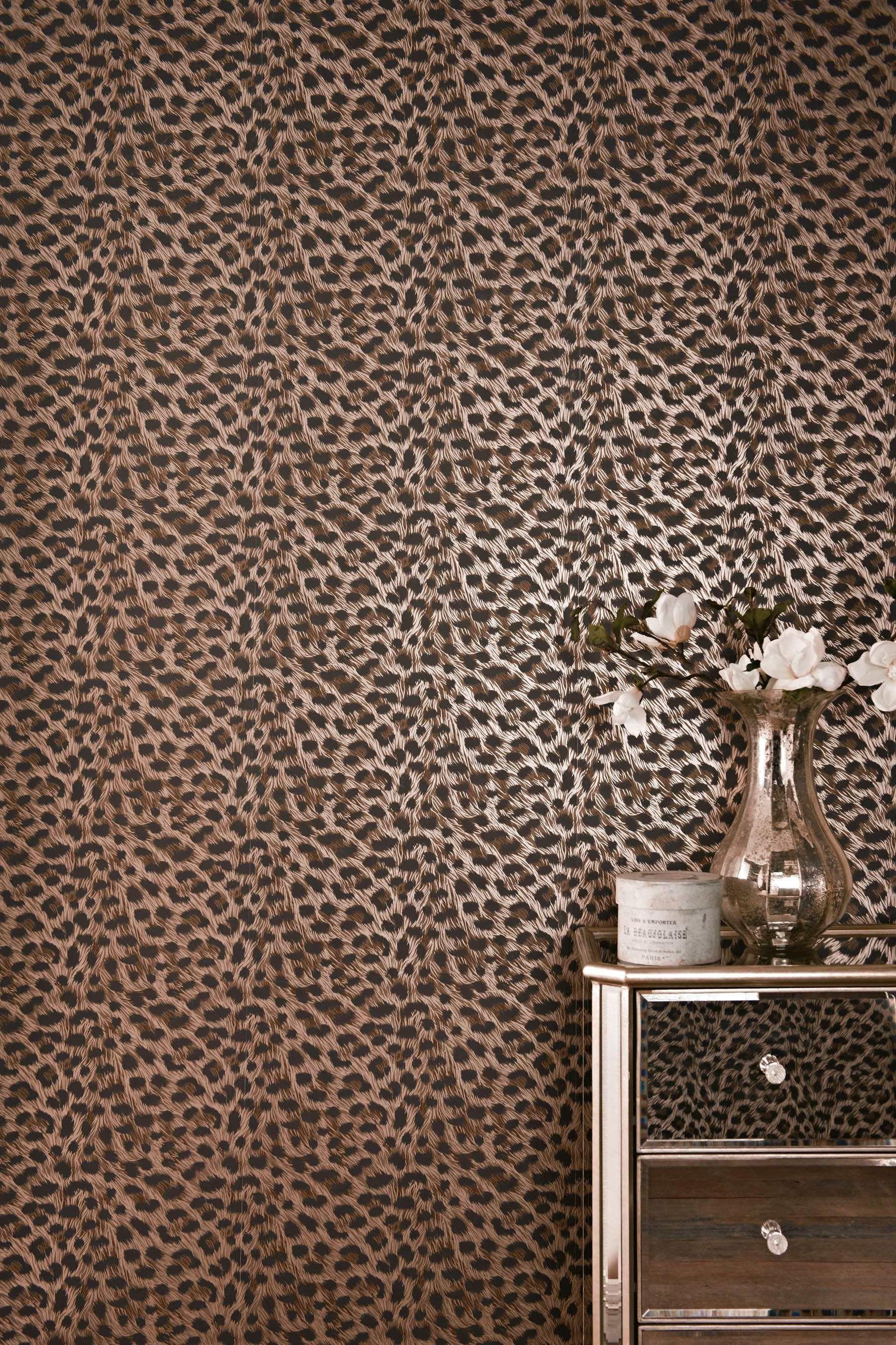 Wallpaper Wednesday Leopard Print Wallpaper from Next   Love Chic 1800x2700