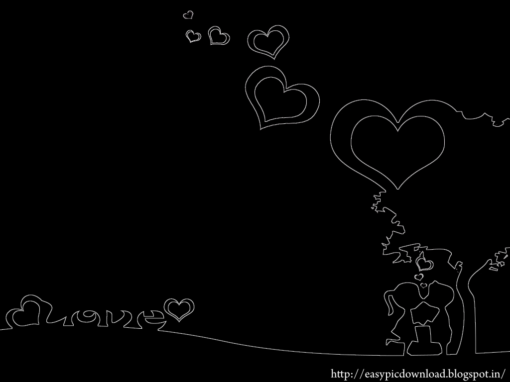 Cute wallpapers black and white wallpapersafari for Pictures of black lovers
