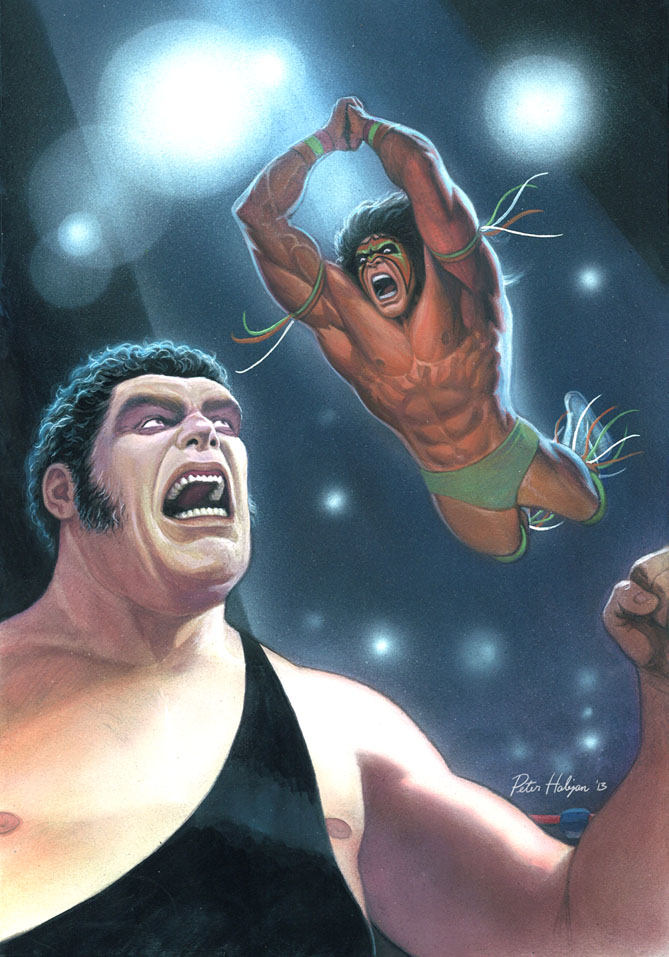 Andre the Giant vs Ultimate Warrior by Habjan81 669x957