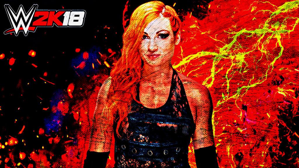 Becky Lynch WWE 2K18 Custom Wallpaper