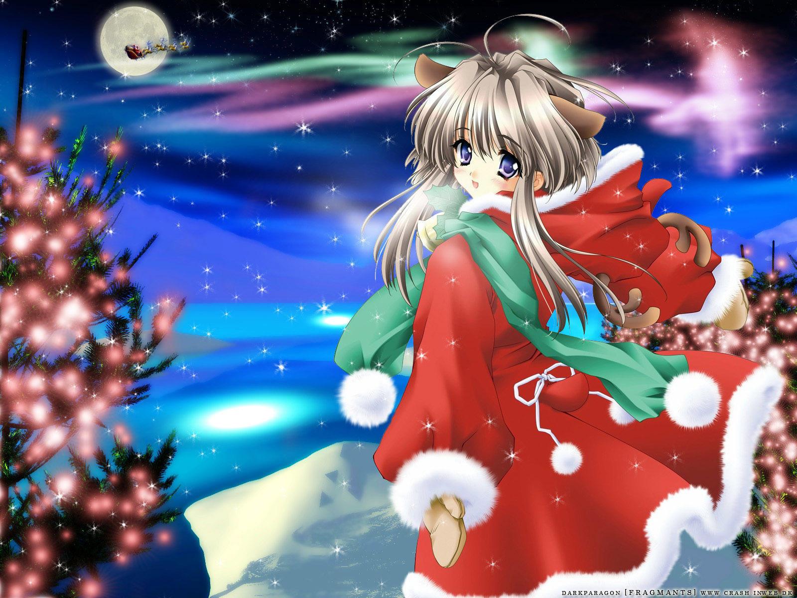 Anime Christmas Google Skins Anime Christmas Google Backgrounds 1600x1200