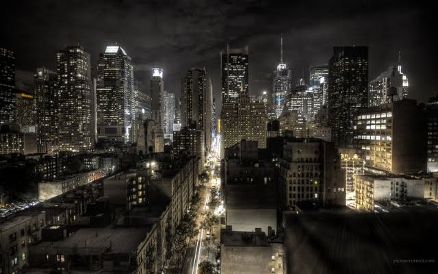 this new york cityscape wallpaper of the downtown skyline was taken 640x400