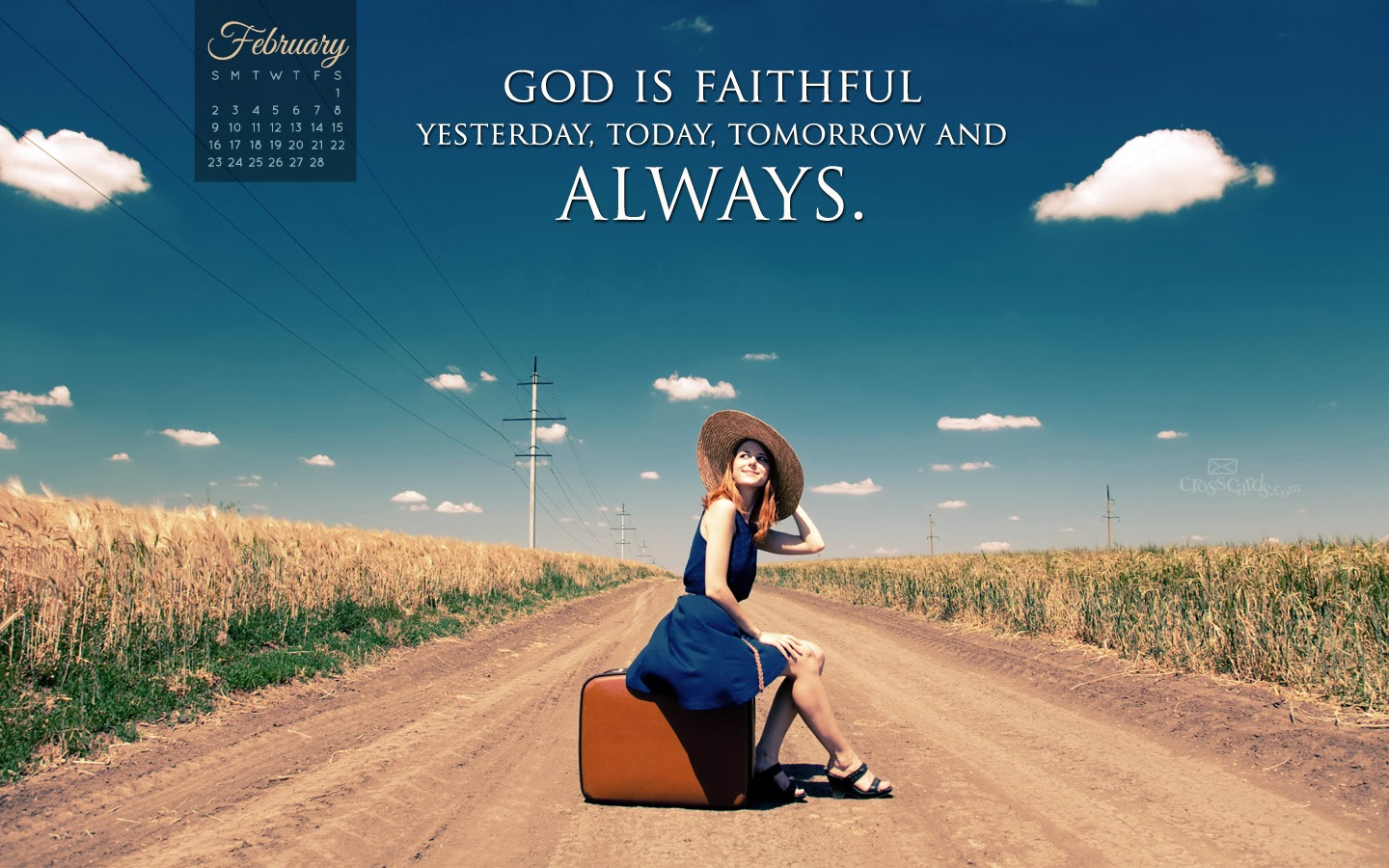 Card Wallpapers 2014 February Bible Verse Desktop Calendars 1440x900