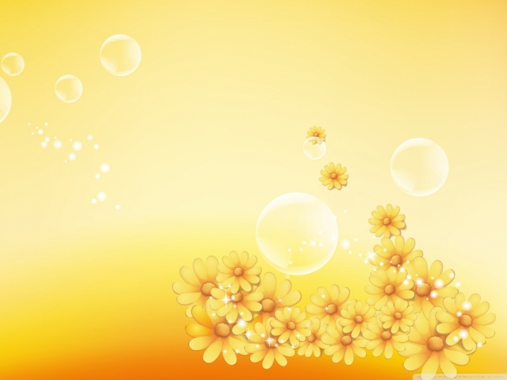 Cute Yellow Wallpaper WallMayacom 1024x768
