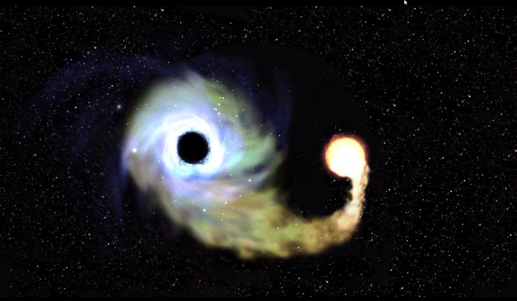 Black hole yin yang Shown at the end of a vsauce video woahdude 1680x978