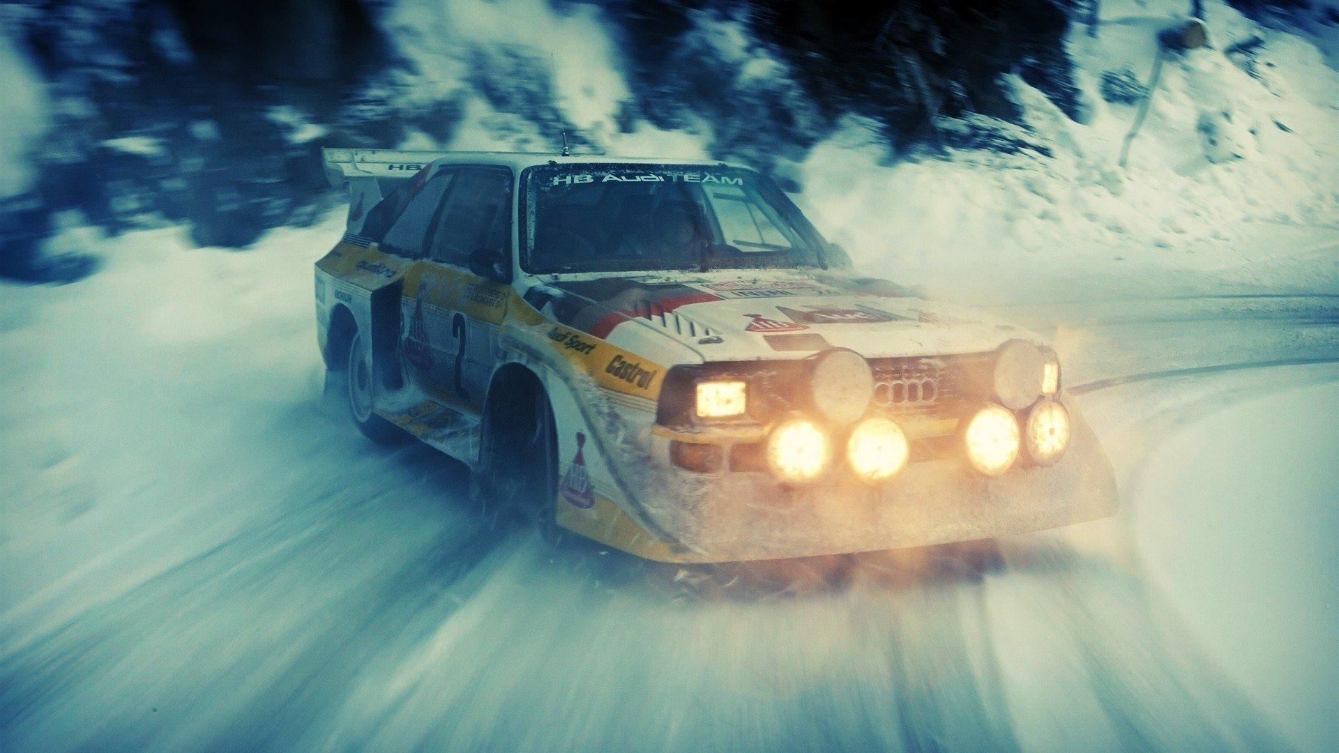 Rally Cars Audi Snow Drift Audi Quattro WallDevil   Best HD 1920x1080