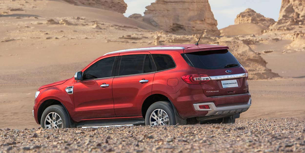 2018 Ford Endeavour side view in sand uhd images and 1250x630