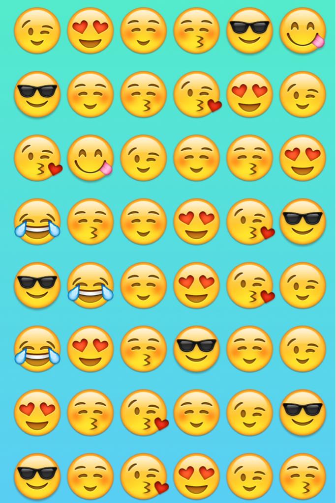 Group of Cute emoji background Wallpaper 683x1024