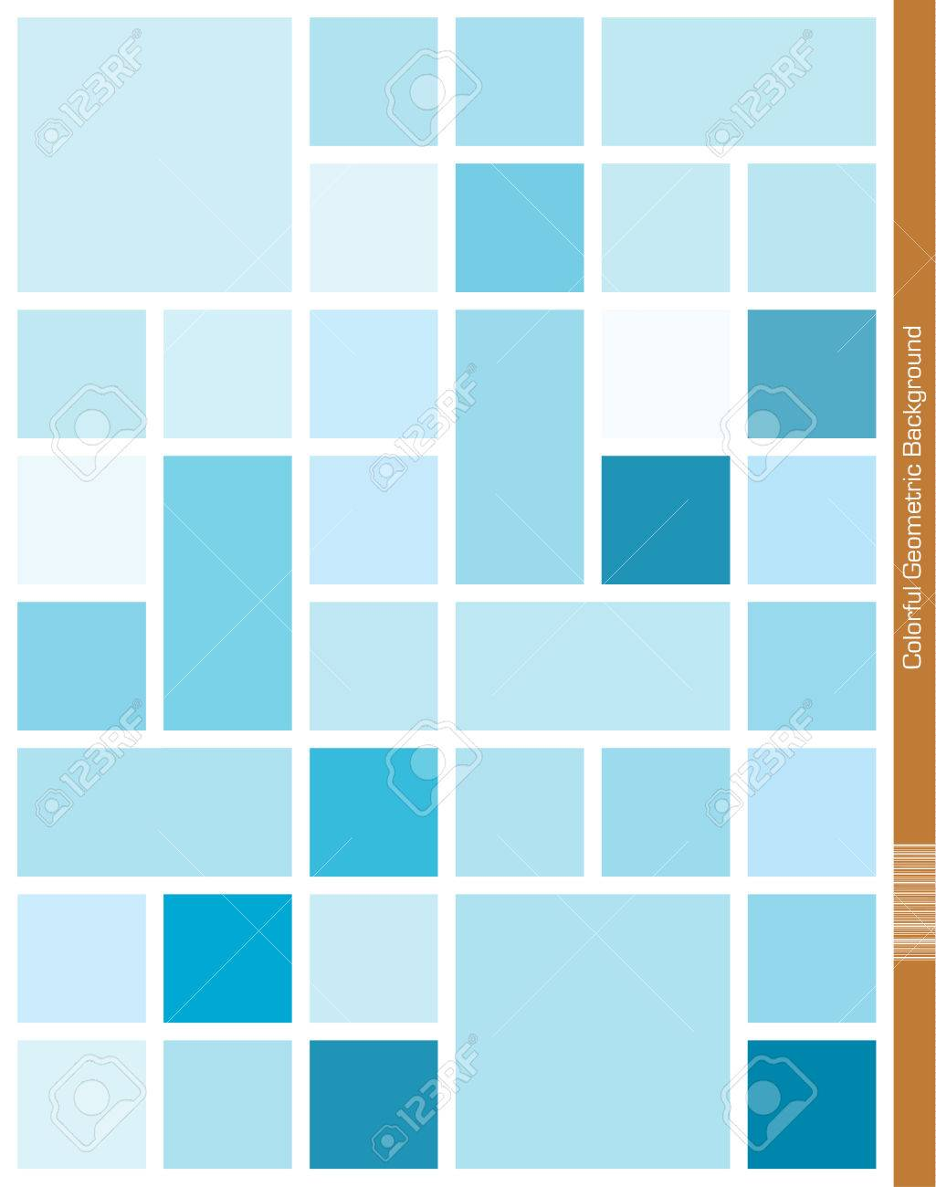 Blue Mondrian Style Geometric Background Royalty Cliparts 1025x1300
