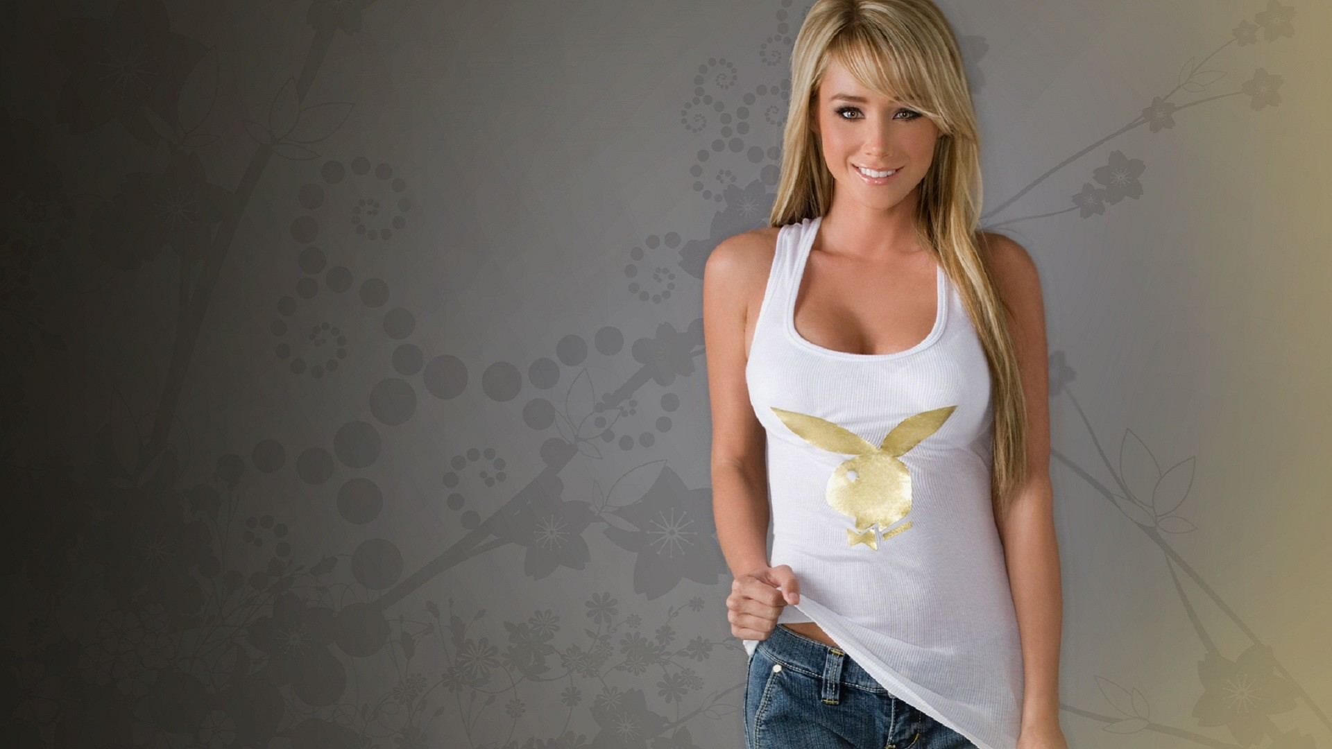 Sporty girl in white tank top wallpapers and images   wallpapers 1920x1080