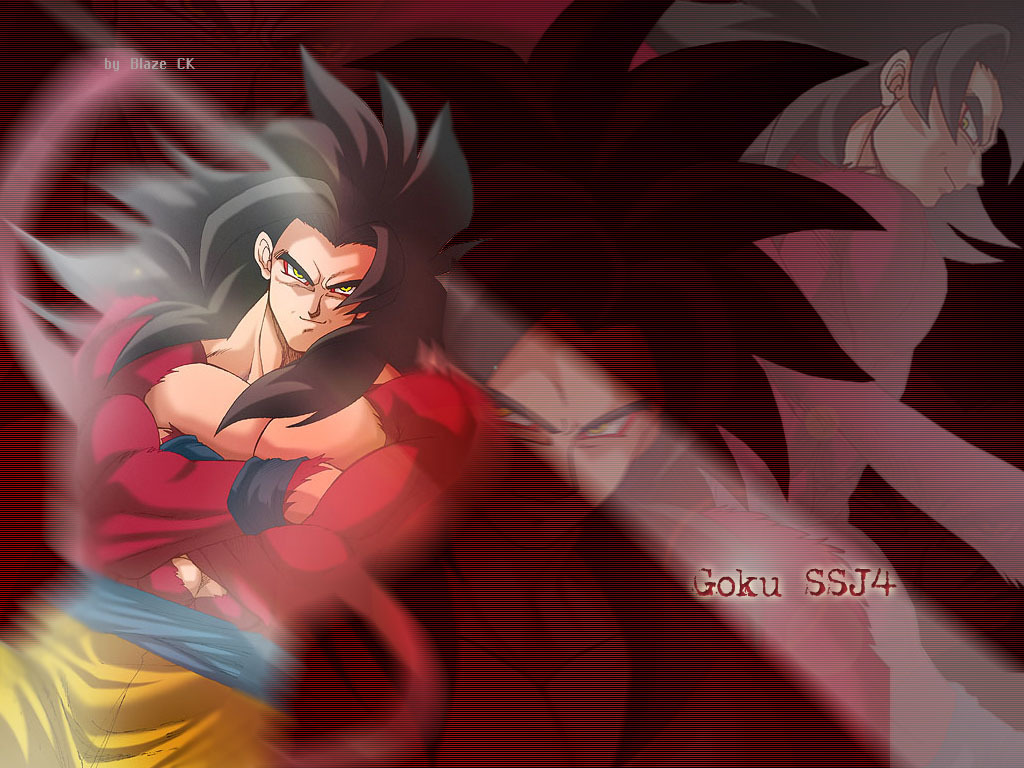 Goku Super Saiyan Level 4   Dragon Ball Z Wallpaper 26188408 1024x768