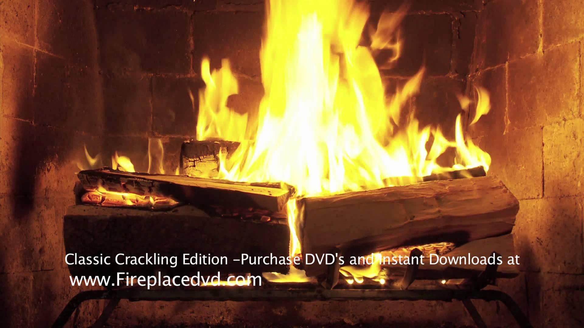 Fireplace Crackling Yule Log in HD 1080P 1920x1080