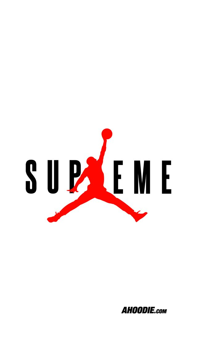 Jordan X Supreme Ahoodie iPhone 6S wallpaper Project print in 639x1136