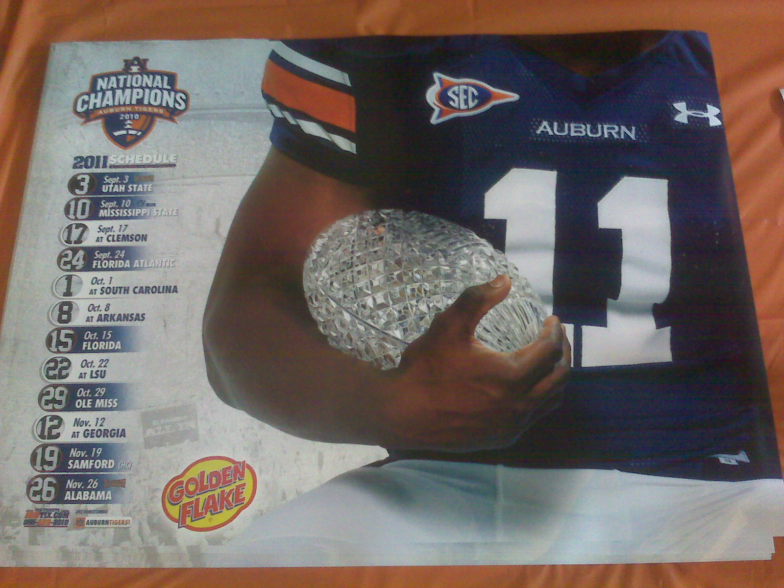 Auburn Football Schedule 2013 Auburn schedule poster 1600x1200
