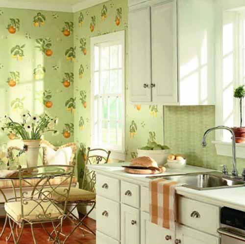 country kitchen wallpaper walls 500x499