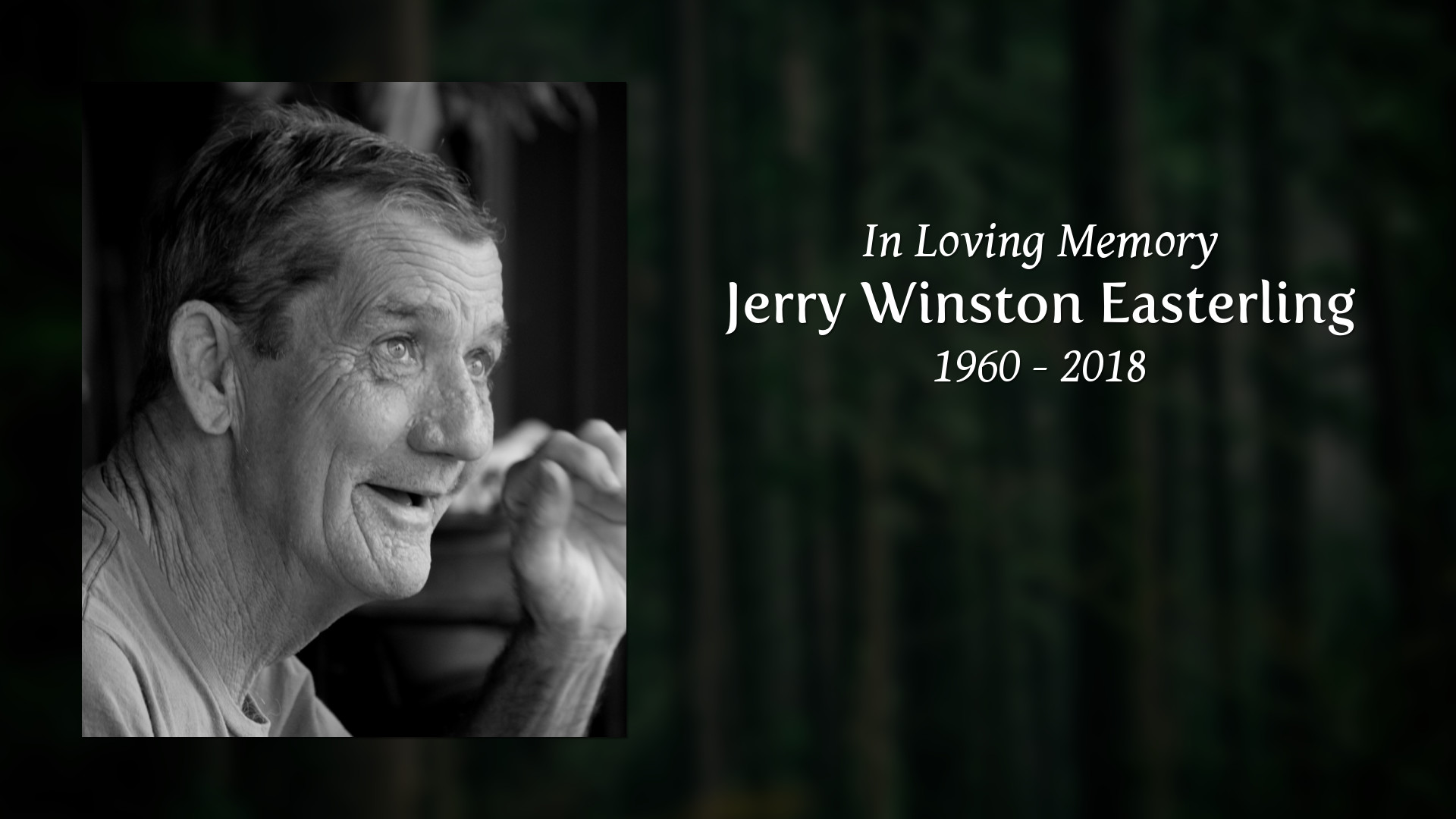 Obituary for Jerry Winston Easterling Ellison Memorial Funeral Home 1920x1080