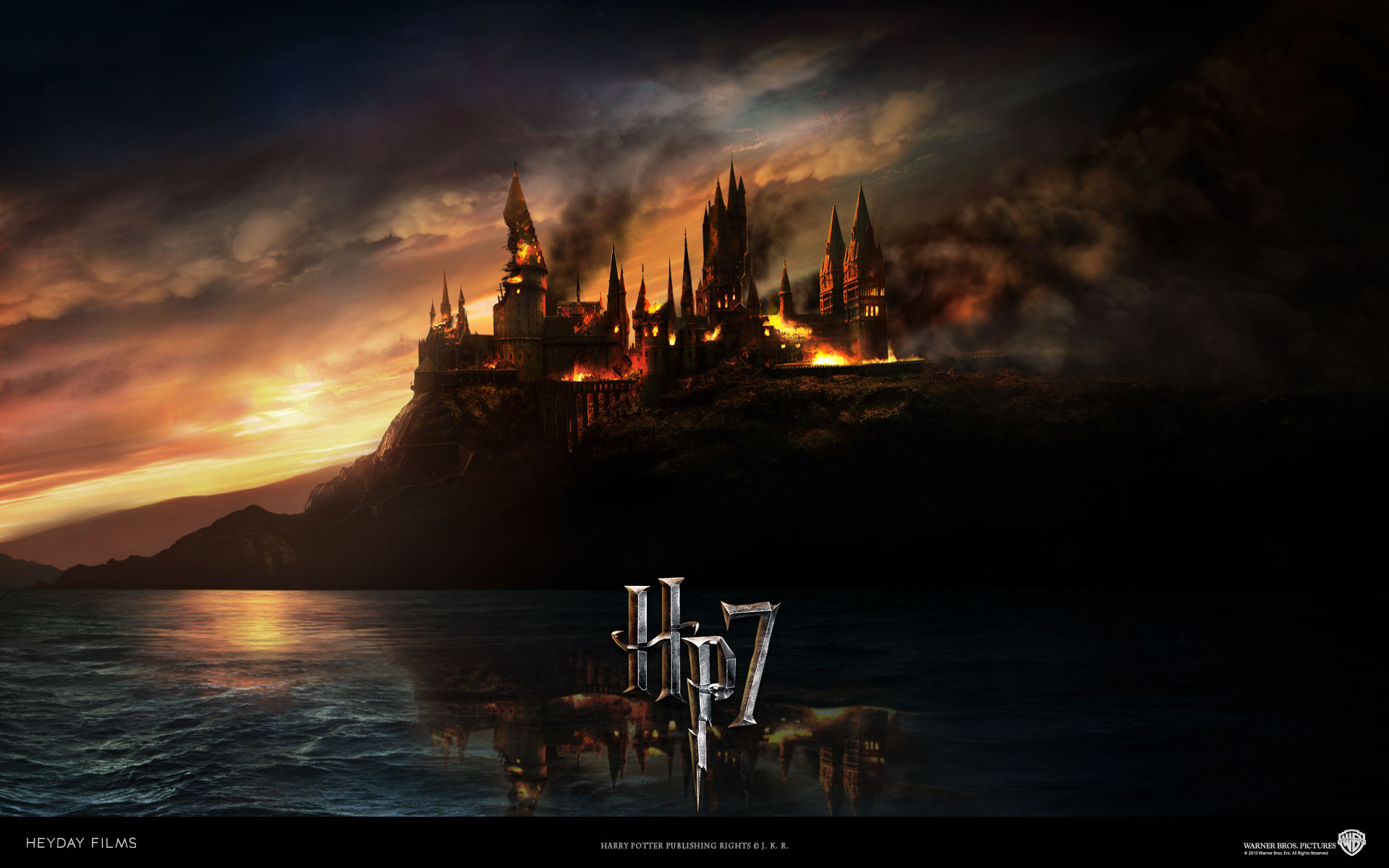 Burning Hogwarts Google Skins Burning Hogwarts Google Backgrounds 1920x1200