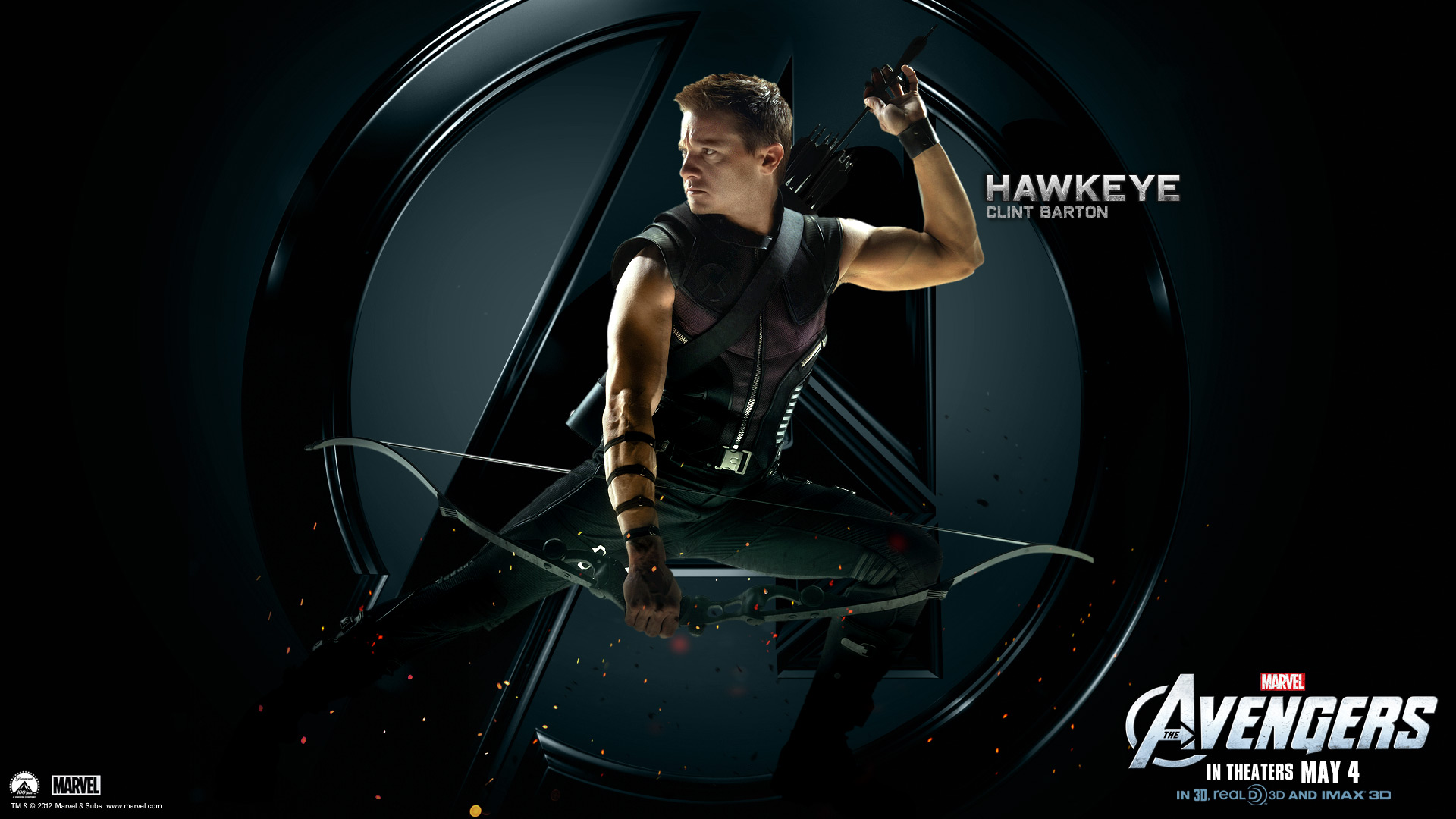 Marvels Avengers Wallpapers HD The Avengers Hawkeye HD Wallpapers 1920x1080