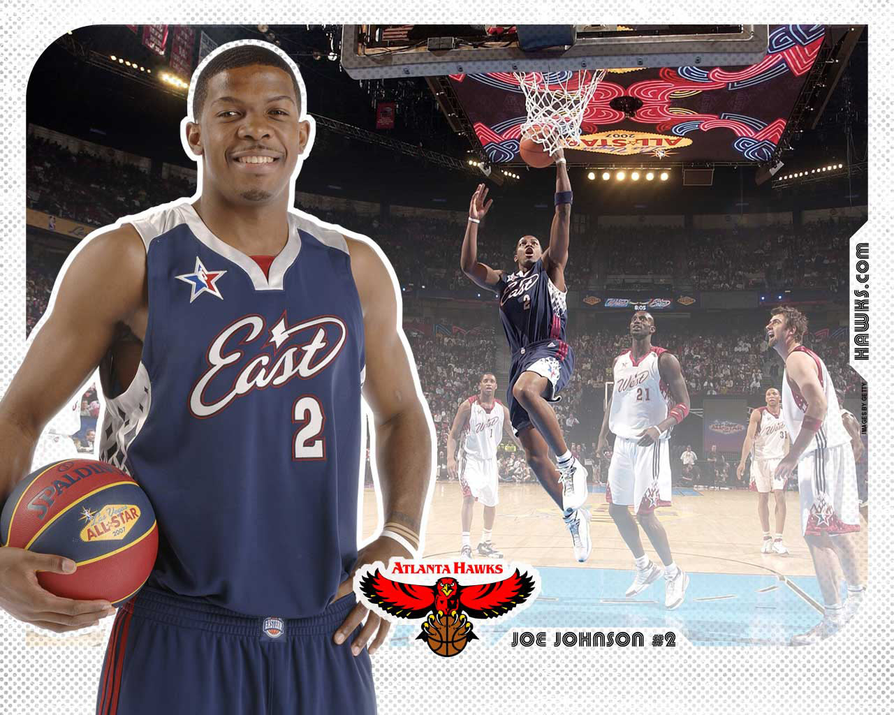 Joe Johnson All Star 2007 Wallpaper Basketball 1280x1024