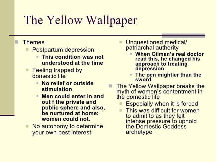 49 The Yellow Wallpaper Theme Insanity On Wallpapersafari